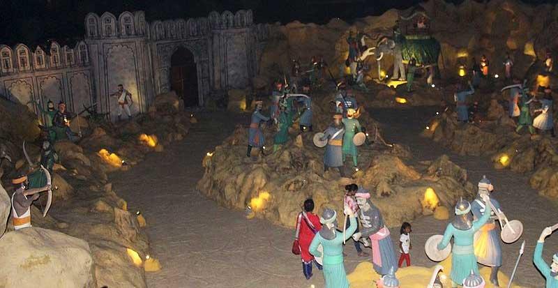 a view of rajput war at choki dhani