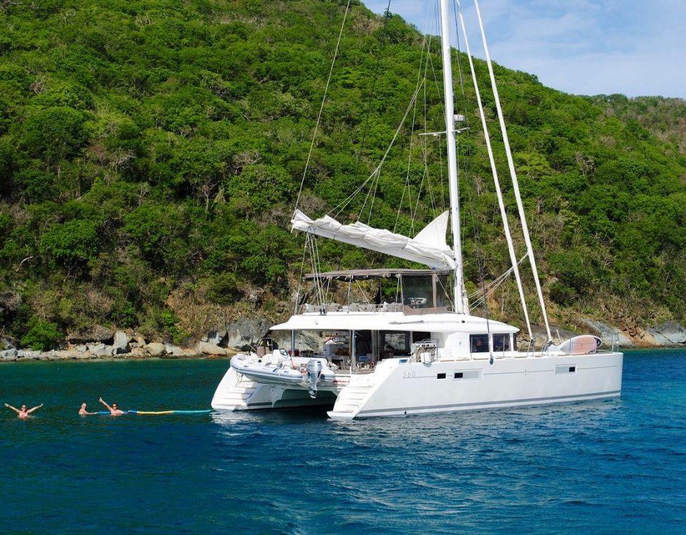 Vacation with catamaran charter